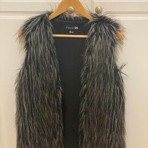 Beautiful fur Forever 21 vest